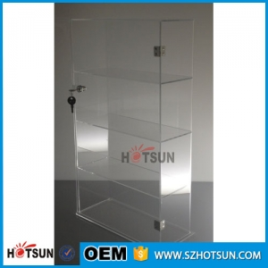Good quality custom acrylic display cabinet with door and lock