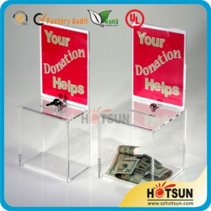 High Quality Charity Donation Box with Key and Lock