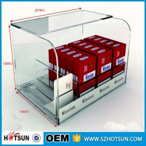 High quality acrylic material cigarette racks for convenience store