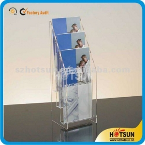 High quality custom manufacture acrylic brochure holder