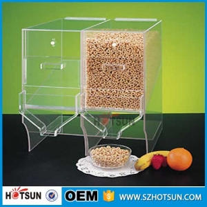 Home Use Acrylic Cereal Dispenser Plastic Coffee Bean Dispenser