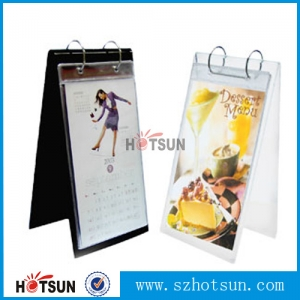 Ju10 clear acrylic flip over roll menu holder for hotel,restaurant