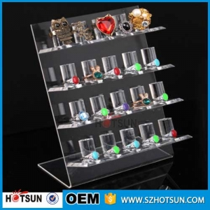 L shape acrylic jewelry display for ring bracelet display
