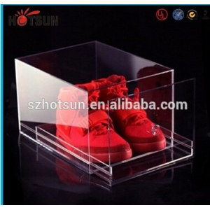 New products Acrylic Shoe Box for Sale, Clear Shoe Box,plastic storage box