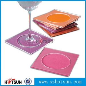 OEM factory custom clear acrylic coasters wholesale