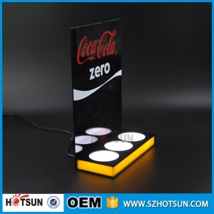 POP battery supply power led light bases for acrylic stand
