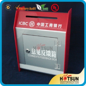 Pop Sales Donation Box with Logo Silkscreen Printing and Lock
