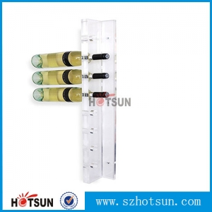 Popular Wall Mounted Acrylic Wine Bottle Display champagne display