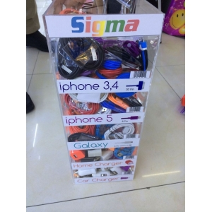 Professional custom cell phone accessory display supplier