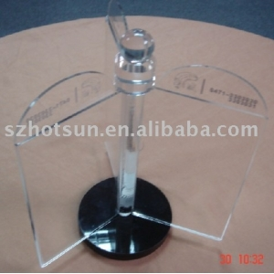 Restaurant Hotel Bar revolve table stand acrylic menu holder