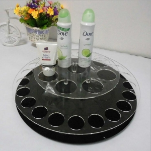 Round acrylic makeup/cosmetic display stand