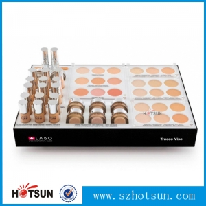 Shenzhen factory customize counter top acrylic makeup display stand