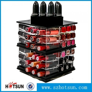 Spinning lipstick tower 88 divisions acrylic lipstick holder rotating lipstick stand