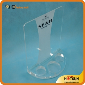 Table top acrylic display rack for cosmetic