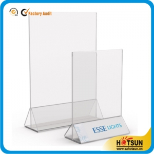Vertical Stand-Up Acrylic Sign Holder