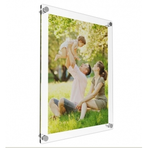 Wall mounted acrylic material clear acrylic photo frame supplier