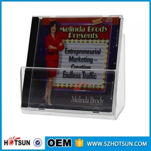 acrylic DVD CD display rack for supermarket retail