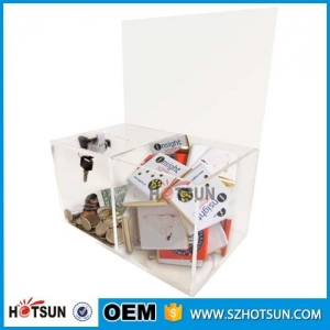 acrylic made transparent box for collection