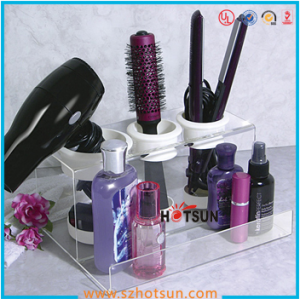 acrylic makeup organizer tray with divider