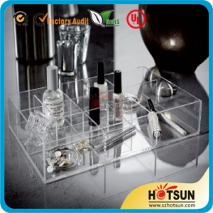 acrylic makeup organizer with compartments