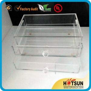 acrylic storage jewelry box with drawer