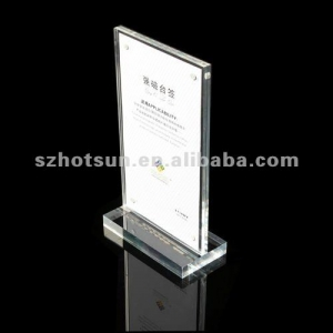 acrylic table menu stand /acylic menu holder