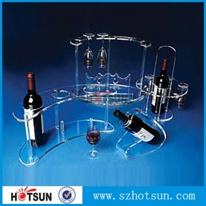 acrylic wine rack, acrylic wine display holder