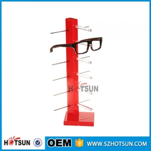 best selling acrylic eyeglass display sunglass display stand 6 pairs