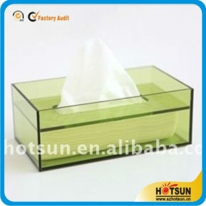 clear acrylic handmade tissue box cover wholesale