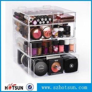 clear  acrylic makeup organizer suppliers