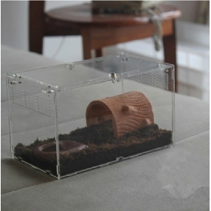 clear acrylic reptile pet cage