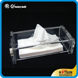 clear rectangular acrylic tissue boxes