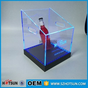 colorful LED lighting acrylic ice chest perspex chilly bin with remote control