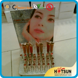 countertop acrylic cosmetic display with brochure holder