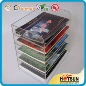 hot sales cheap acrylic brochure holder standee