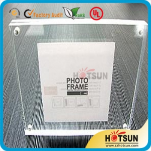 manufacture supplies double sided acrylic photo frame with magnets