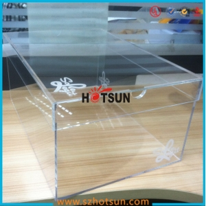 promotional high quality clear plexiglass shoe box
