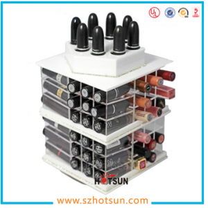 rotating acrylic lipstick display