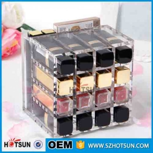simple design mini acrylic makeup lipstick organizer