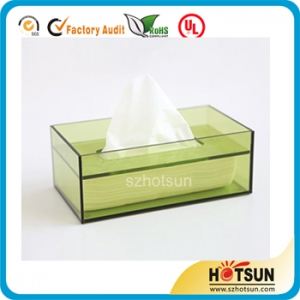 tabletop acrylic small tissue box new