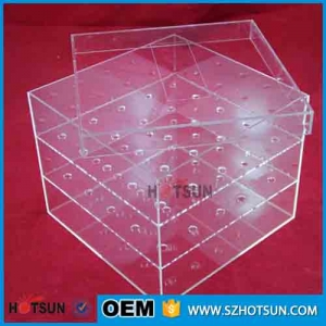 transparent acrylic flower box with lid for sale