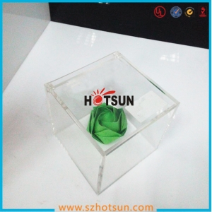 transparent plastic acrylic storage box with lid
