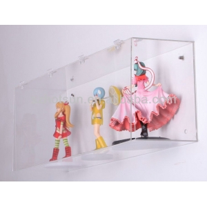 wall mounted high transparent acrylic display box