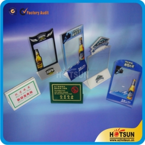 wholesale customized acrylic products/acrylic menu card holder