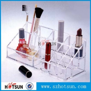 wholesale factory acrylic cosmetic organizer makeup display stand