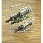 Fabbrica della Cina 2016 New arrival wall-mounted Acrylic wine holder ,acrylic wine rack