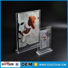 China 3 Package A4 a5 8.5x11 inches clear acrylic price tag holder plastic sign holder factory