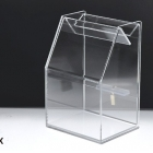 China Clear Acrylic donation box factory