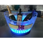 China Acrylic ice bucket with led factory
