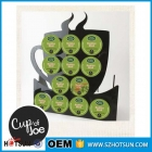 Chine Beautiful design coffee cup shape acrylic coffee capsule holder usine